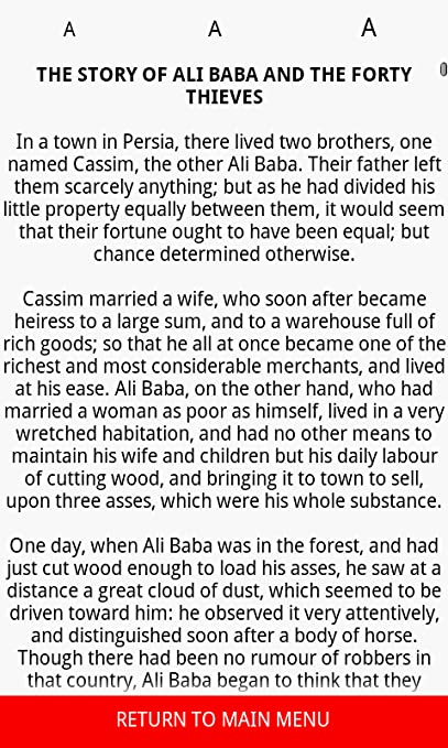 The Story of Ali Baba and the Forty Thieves