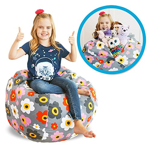 Soothing Company Stuffed Animal Kid Bean Bag Chair - Storage for your Child's Stuffed Animals and Blankets (38