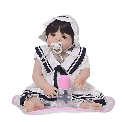 Muñecos Bebé 57 Cm Reborn Baby Simulation Doll Full Body ...