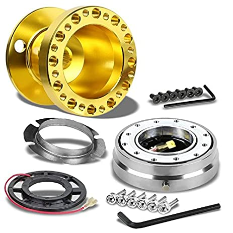 Amazon gold aluminum 6 hole steering wheel hub adaptersilver gold aluminum 6 hole steering wheel hub adaptersilver quick release for nissan 95 sciox Choice Image