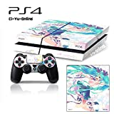 Ci-Yu-Online VINYL SKIN [PS4] Hatsune Miku #4 Whole Body VINYL SKIN STICKER DECAL COVER for PS4 Playstation 4 System Console and Controllers – Hatsune Miku #4 For Sale