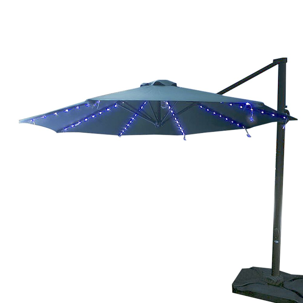 Koffmon Umbrella Lights 8 Lighting Mode 104 LED with Remote Control Battery Operated Waterproof Outdoor Lighting, for Patio Umbrellas/Outdoor Use/Camping Tents (Blue)
