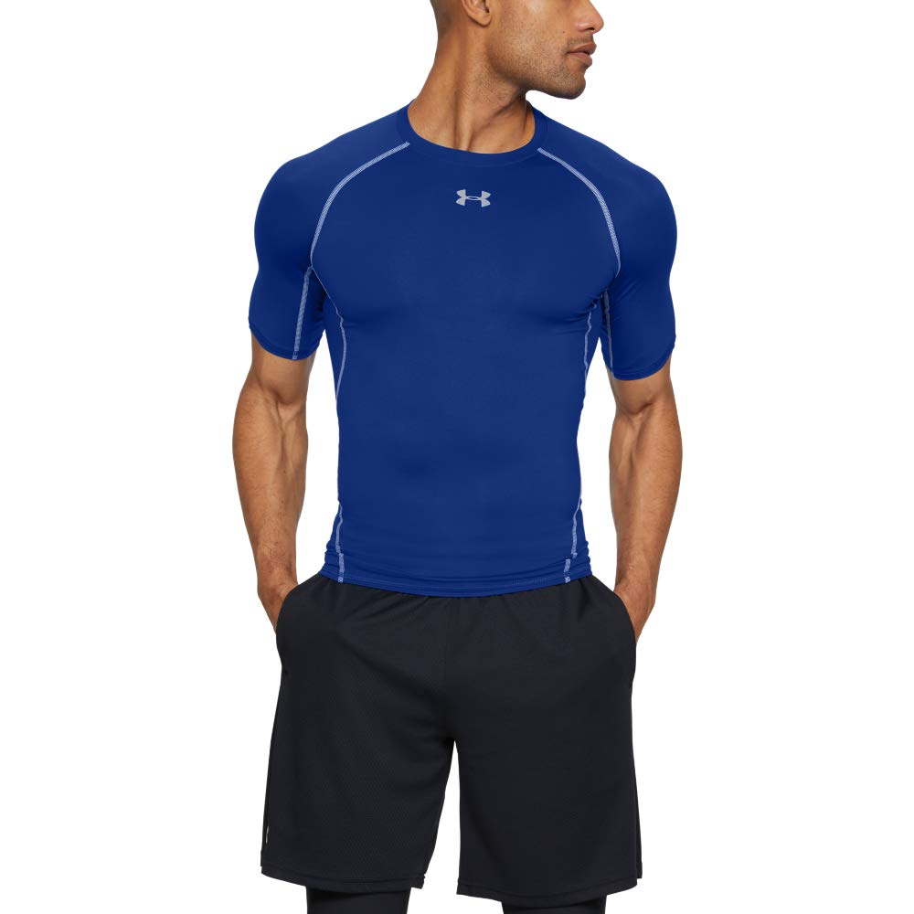 Under Armour Men's HeatGear Armour Short Sleeve Compression T-Shirt, Royal (400)/Steel, 3X-Large by Under Armour