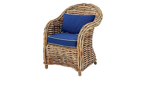 Casa Padrino sillones de Mimbre diseñador de 70 x 70 x H. 88 ...