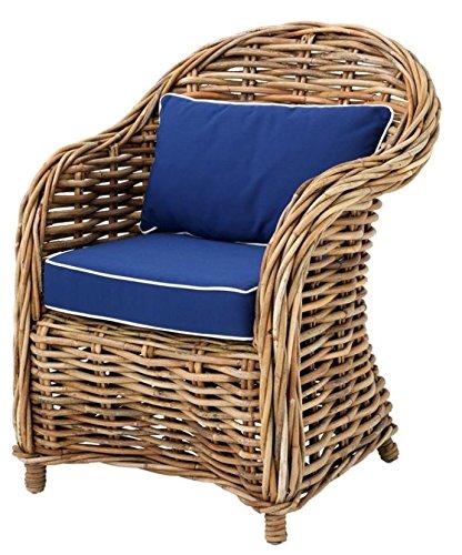 Casa-Padrino sillones de Mimbre diseñador de 70 x 70 x H. 88 ...