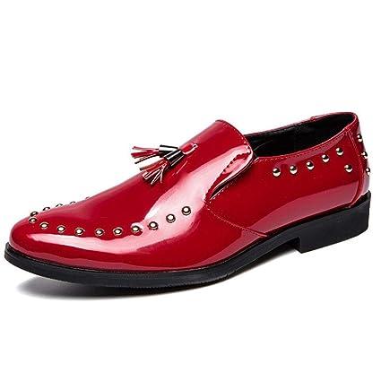 bd773cf85c478 Amazon.com: XUEXUE Men's Leather Rivet Shoes/Loafers & Slip-Ons ...