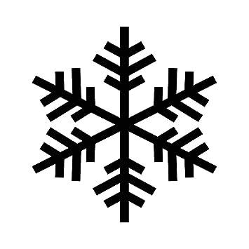 Amazon Snowflake Outline Silhouette Winter 6 Vinyl Sticker Car