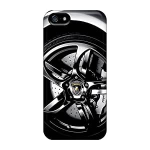 Shock Absorbent Hard Phone Covers For Iphone 5/5s (KbV3169QIWe) Customized HD Lamborghini Murcielago Lp640 Wheel Skin