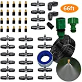 DIY Leak Proof Copper Misting System- Misters for Patio, Gazebos, Backyard Cooling, Pool and Play Areas(66ft-3/8 tubing)