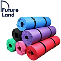 10mm Non-Slip Yoga Mat Sports Mat Exercise Mat with carrying straps 183 x 61 x 1 cm