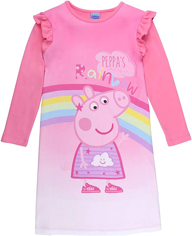 Nightgown Nightwear Pink Peppa Pig Girls Nighty