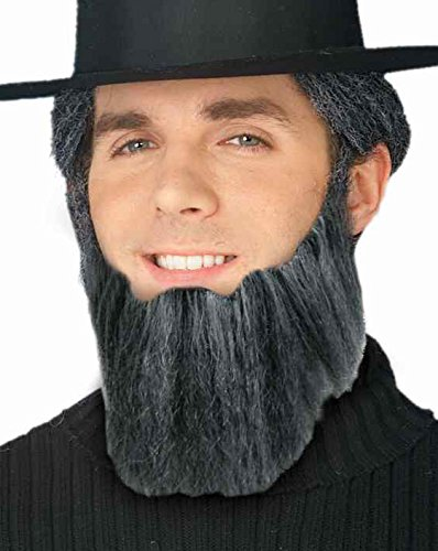 [Forum Novelties Men's Novelty Handmade Full Beard, Gray, One Size] (Mens Lumberjack Costumes)