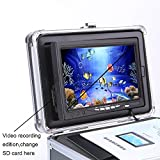 "Portable Fish Finder Camera,Video Recording Edition Fishing Camera System Kit with DVR 7"" Color Monitor LCD HD 1000TVL IP68 Underwater Camera 30m Cable 4500mAh Rechargeable Battery for Boat,Kayak,Ocean,Ice,Lake Fishing"