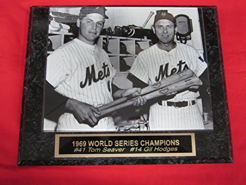 Tom Seaver Gil Hodges METS Collector Plaque w/8x10 VINTAGE PHOTO!