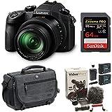Panasonic LUMIX DMC-FZ1000 16X Long Zoom Digital Camera (Black) (64GB Rode Video Bundle)