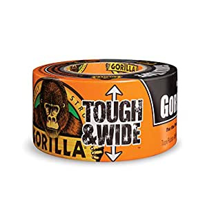 """Gorilla Tape, Black Tough & Wide Duct Tape, 2.88"""" x 30 yd, Black, (Pack of 1)"""