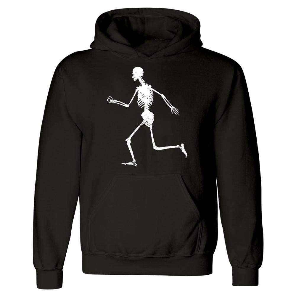Stuch Strength Funny Running Hoodie Skeleton Sprinting Dashing