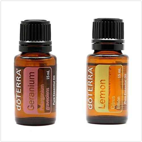 doTERRA Essential Oil ( Aromatherapy & Therapeutic ) - Geranium 15ml + Lemon 15ml plus FREE Expedited Shipping by EcBuy