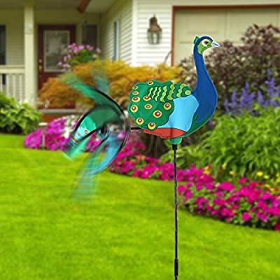 Mail Order Direct Peacock Wind Spinner: Garden & Outdoor