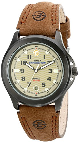 - Timex Men's T47012 Expedition Metal Field Brown Leather Strap Watch, Brown/Black/Olive