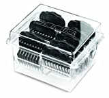 Andis-High-Quality-Chrome-Plated-Plastic-Universal-Snap-On-Pet-Clipper-Comb-Set
