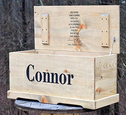 Personalized Kids Toy Box with Inside Lid Engraving - Kids Toy Chest - Kids Memory Box - Personalized Toy Box - Gift for Kids - Engraved Toy Box by Country Barn Babe