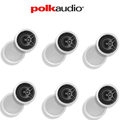Polk Audio MC80 High Performance in-Ceiling Speaker (6-Pack)