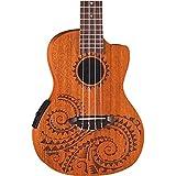 Luna Tattoo Acoustic Electric Concert Ukulele with Gigbag