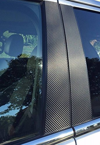 707 Motoring Fits Infiniti QX30 2017-2018 Vinyl Carbon Fiber Style Black Window Pillar Posts Trim 6PCS