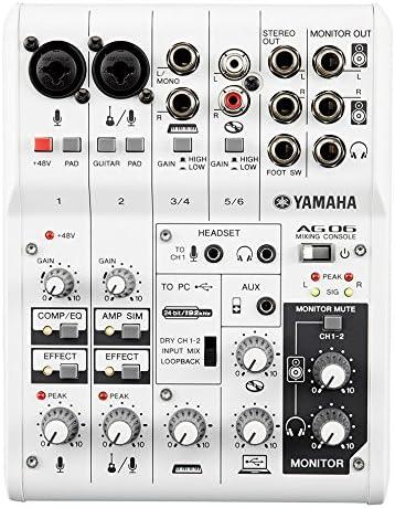 front facing Yamaha AG06