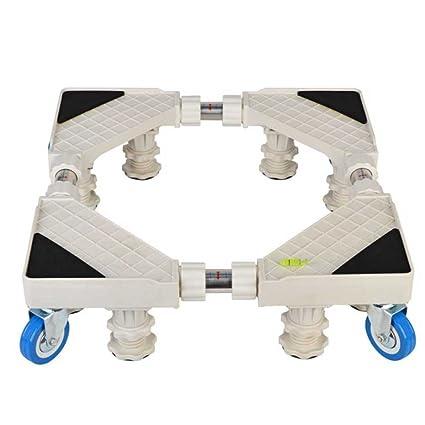 ZCRFY Base Móvil para Refrigerador Universal Acero Inoxidable Base Multifuncional De Secador Ajustable Reforzada Retráctil Lavadora