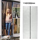 Baynne Magnetic Screen Door, Instant Mesh Curtain Screen Door with Full Frame Velcro Anti Bedbug Fly Anti-Mosquito Door Net 44\