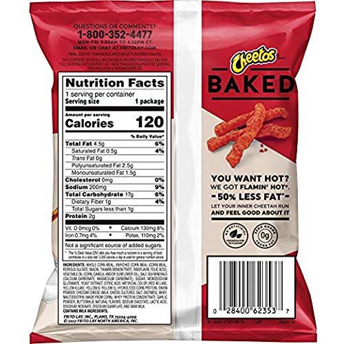 Baked Cheetos Crunchy Flamin' Hot, Pack of 40