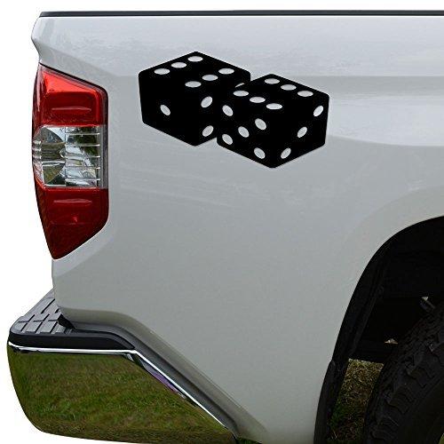 (WenNuNa Rolling Dice Gaming Casino Die Cut Vinyl Decal Laptop Car Truck Bumper Window Sticker)