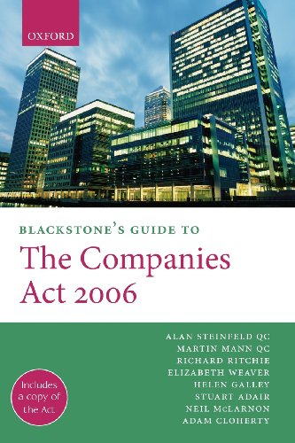 Blackstone's Guide to the Companies Act 2006 (Blackstone's Guides)