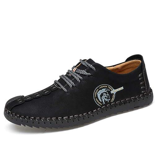 Hombres Hebilla Casual Cuero Mocasines Slip Ons Conducción Barco Mocasines Zapatos: Amazon.es: Zapatos y complementos