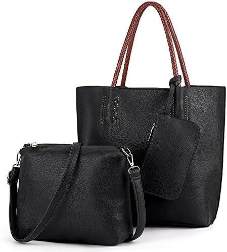 UTO Mujeres Handbag Set 3 Piezas Bolsas PU Leather Tote Bag