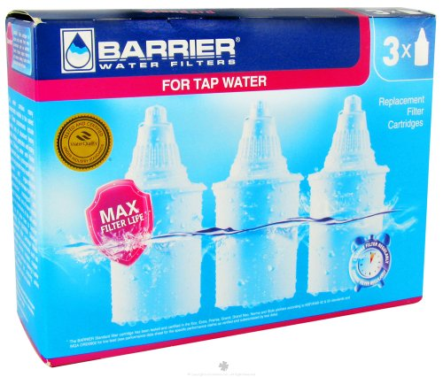 Barrier Water Filters - Water Pitcher Filter Replacement - 3 Pack by New Wave Enviro Products