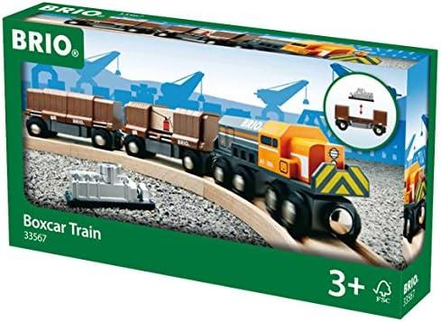 BRIO World 33567000 - Diesellok mit Güterwaggons