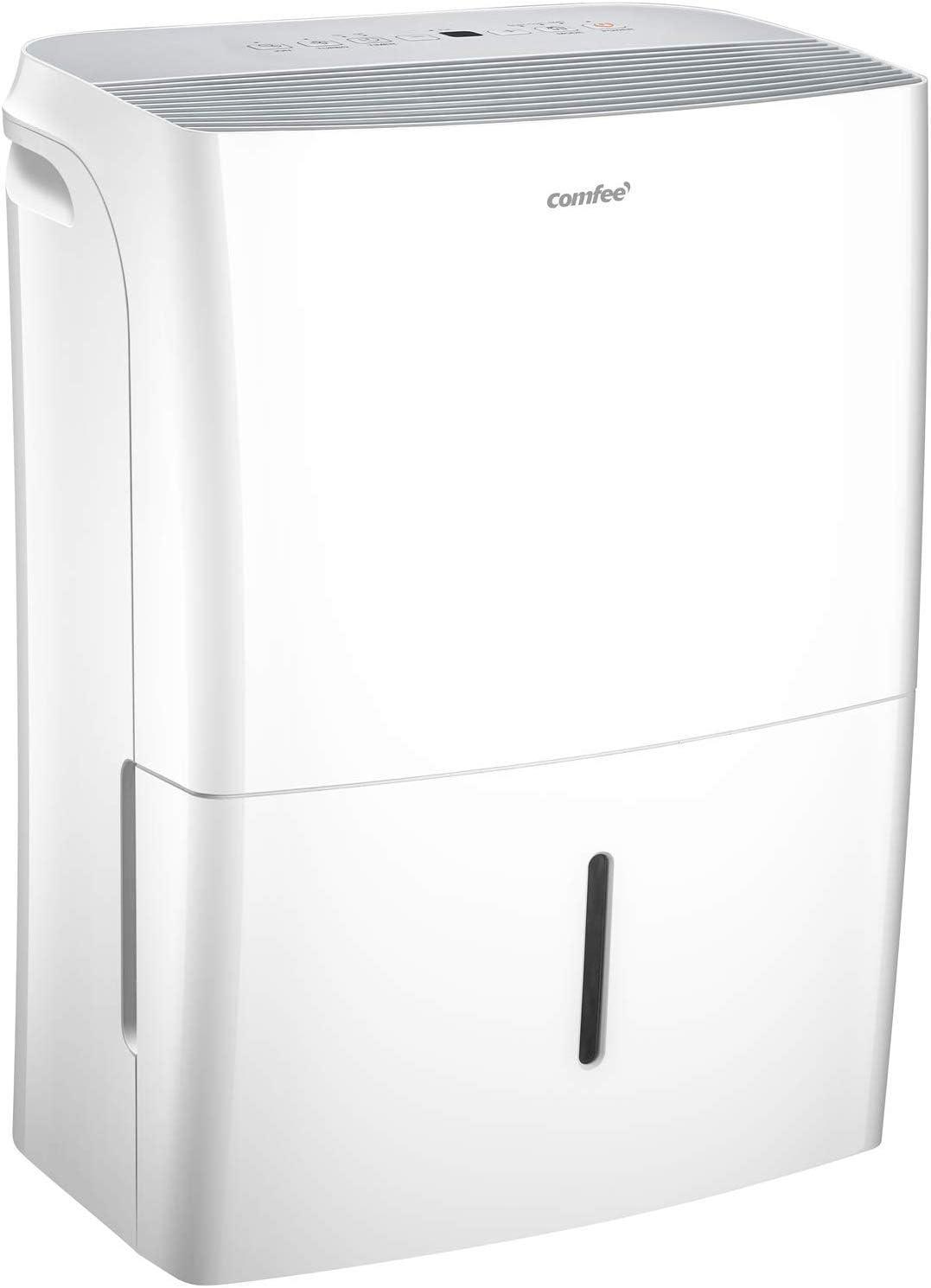 Comfee MDDF-20DEN7-WF - Deshumidificador, 20 L/24 h, tamaño de la habitación aprox. 100 m³(40 m²), compatible con aplicaciones