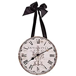 DCI French Themed Antiquites Wall Clock with Ribbon - 8