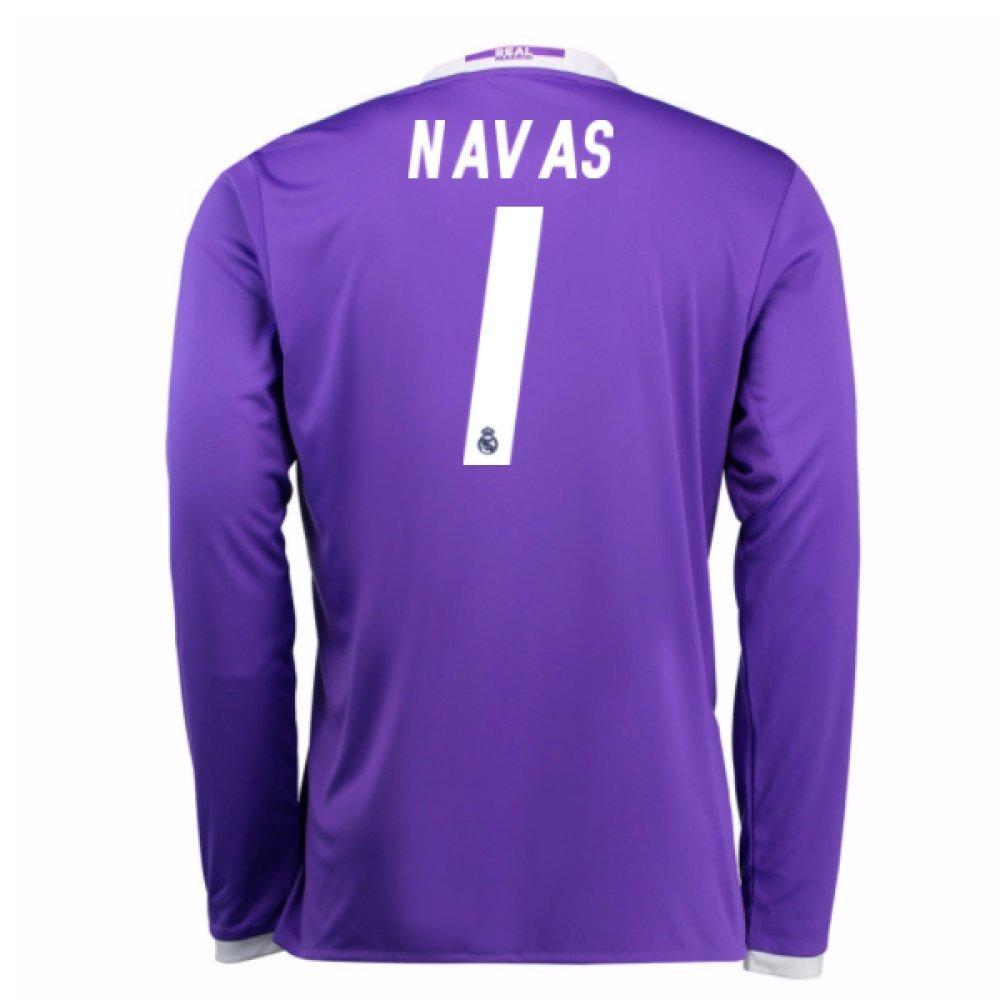 2016-17 Real Madrid Away Shirt (Navas 1) Kids B077VKXXK4Purple XL Boys 32-34\
