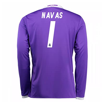 c1424f7e283 Image Unavailable. Image not available for. Color: 2016-17 Real Madrid Away Football  Soccer T-Shirt Jersey (Keylor Navas 1