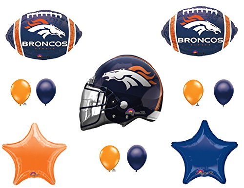 DENVER BRONCOS HELMET Birthday Party Balloons Decoration Supplies