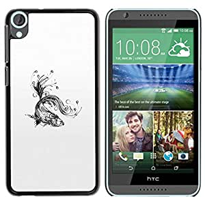 All Phone Most Case / Hard PC Metal piece Shell Slim Cover Protective Case Carcasa Funda Caso de protección para HTC Desire 820 Water Splashes Black White Art