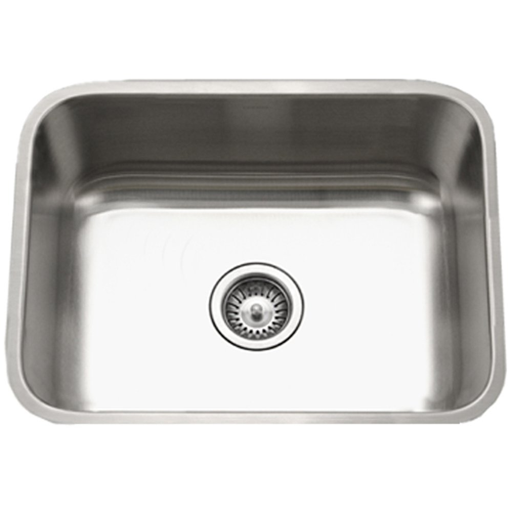 Houzer STS-1300-1 Eston Series Undermount Stainless Steel Single Bowl Kitchen Sink, 18 Gauge by HOUZER