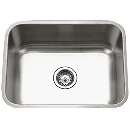 Exceptionnel Houzer STS 1300 1 Eston Series Undermount Stainless Steel Single Bowl Kitchen  Sink,
