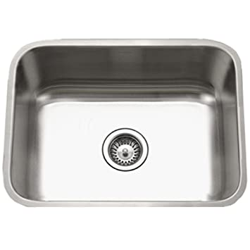 Attractive Houzer STS 1300 1 Eston Series Undermount Stainless Steel Single Bowl Kitchen  Sink, Idea