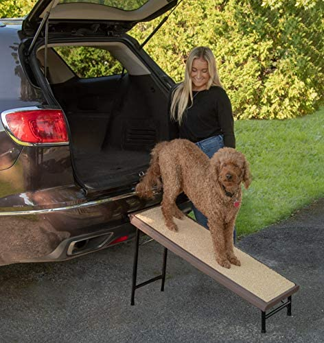 Pet Gear Ultra-Lite Free-Standing Pet Ramp with supertraX, Chocolate