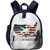 Ugift Funny Print USA Wrestling 2-6ï½›children,Child,kids,ToddlerFunny Schoolbag Opening Gift Prize Schoolbag